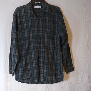 3 for $15 SALE Mens Medium Long Sleeve Plaid Shirt